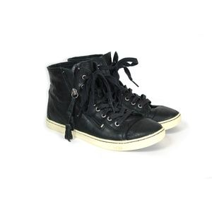 Ugg leather lace up high top sneakers